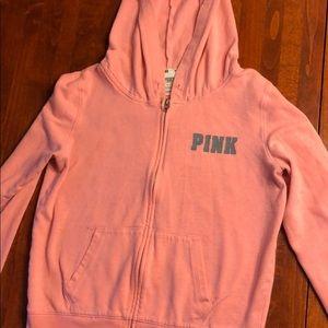 Medium Pink zip up sweatshirt